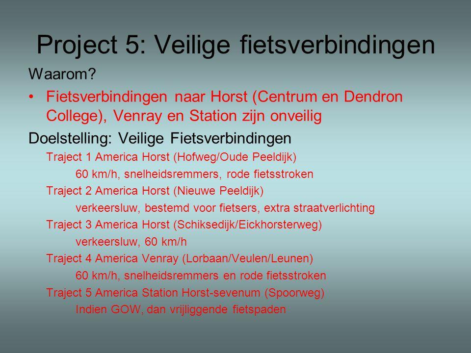 Project 5: Veilige fietsverbindingen Waarom.