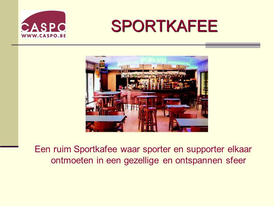 SPORTKAFEE Een ruim Sportkafee waar sporter en supporter elkaar ontmoeten in een gezellige en ontspannen sfeer