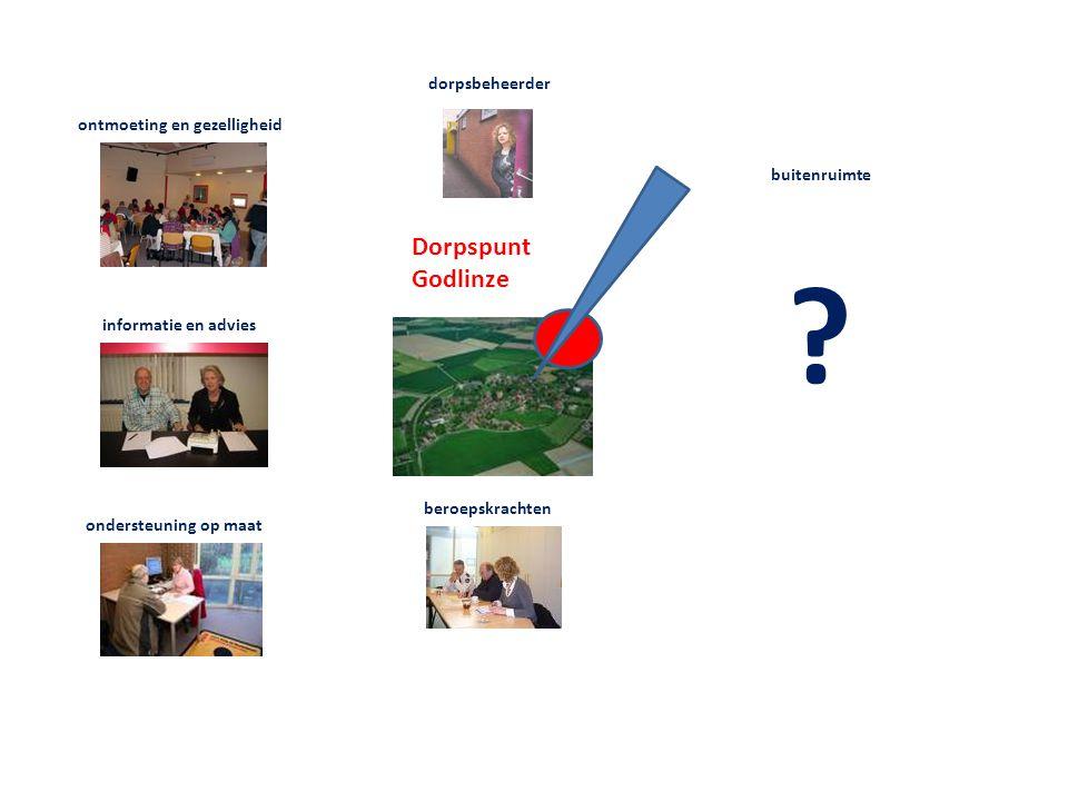 Dorpspunt Godlinze ontmoeting en gezelligheid informatie en advies ondersteuning op maat dorpsbeheerder beroepskrachten buitenruimte ?