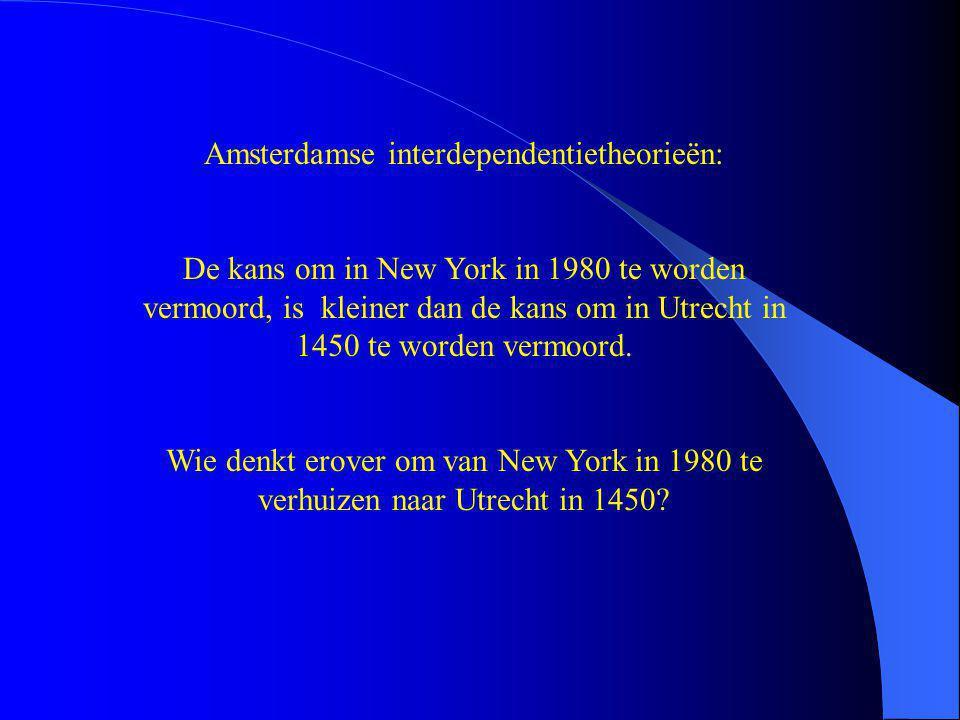Amsterdamse interdependentietheorieën: De kans om in New York in 1980 te worden vermoord, is kleiner dan de kans om in Utrecht in 1450 te worden vermo