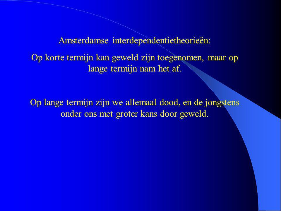 Amsterdamse interdependentietheorieën: Op korte termijn kan geweld zijn toegenomen, maar op lange termijn nam het af.