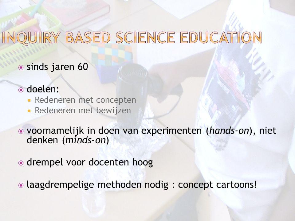  sinds jaren 60  doelen:  Redeneren met concepten  Redeneren met bewijzen  voornamelijk in doen van experimenten (hands-on), niet denken (minds-o