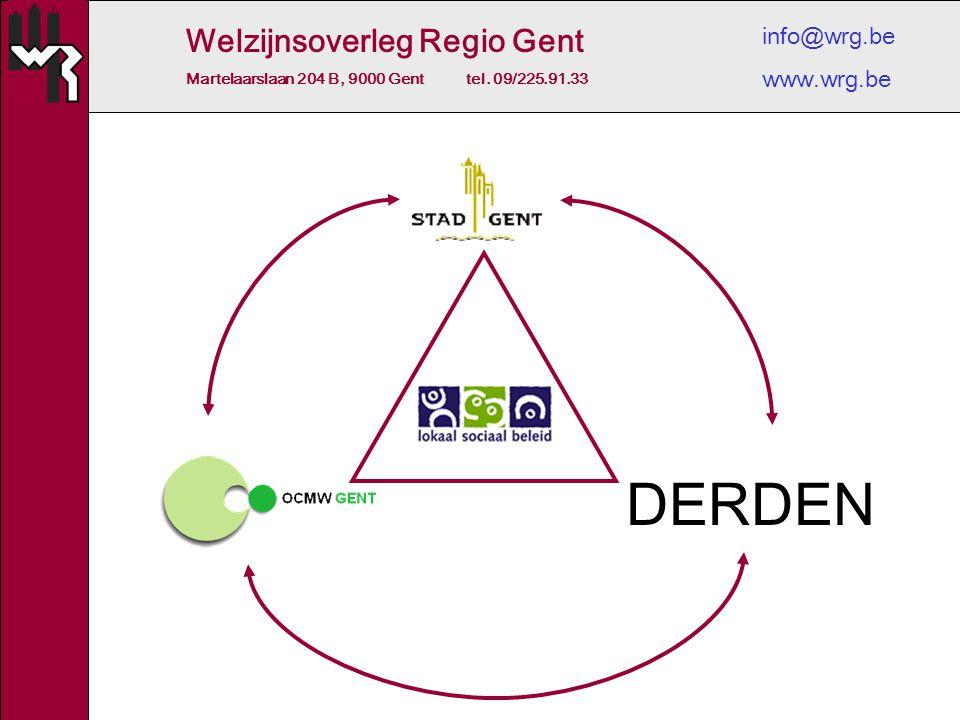 Welzijnsoverleg Regio Gent Martelaarslaan 204 B, 9000 Gent tel. 09/225.91.33 info@wrg.be www.wrg.be DERDEN