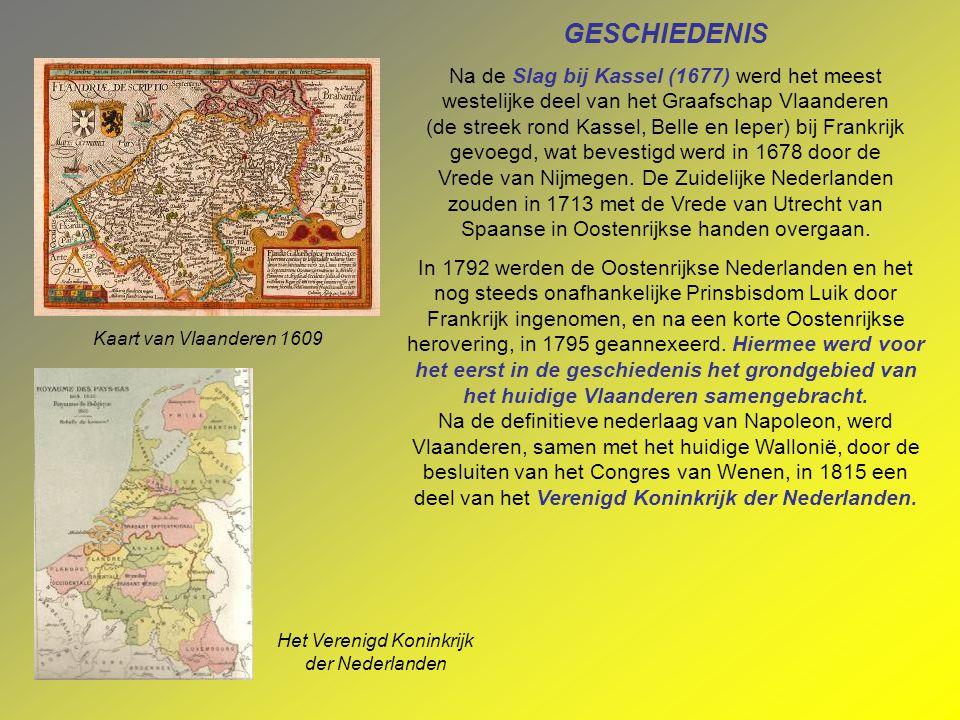 GESCHIEDENIS Het grondgebied van wat nu Vlaanderen is, was in de middeleeuwen verdeeld over meerdere feodale staten. De voornaamste daarvan waren het