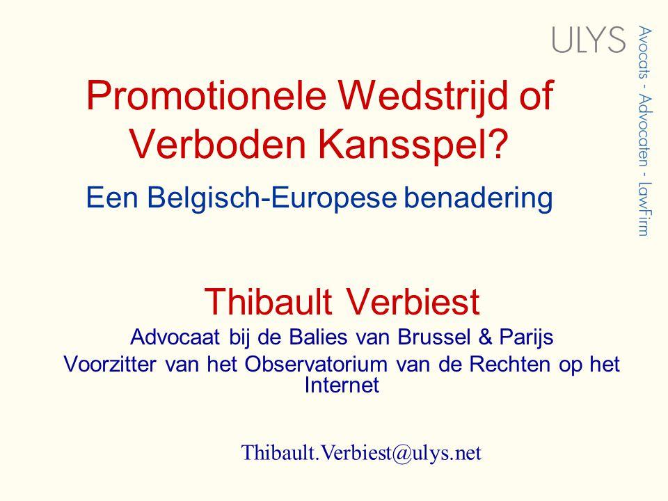 Promotionele Wedstrijd of Verboden Kansspel.