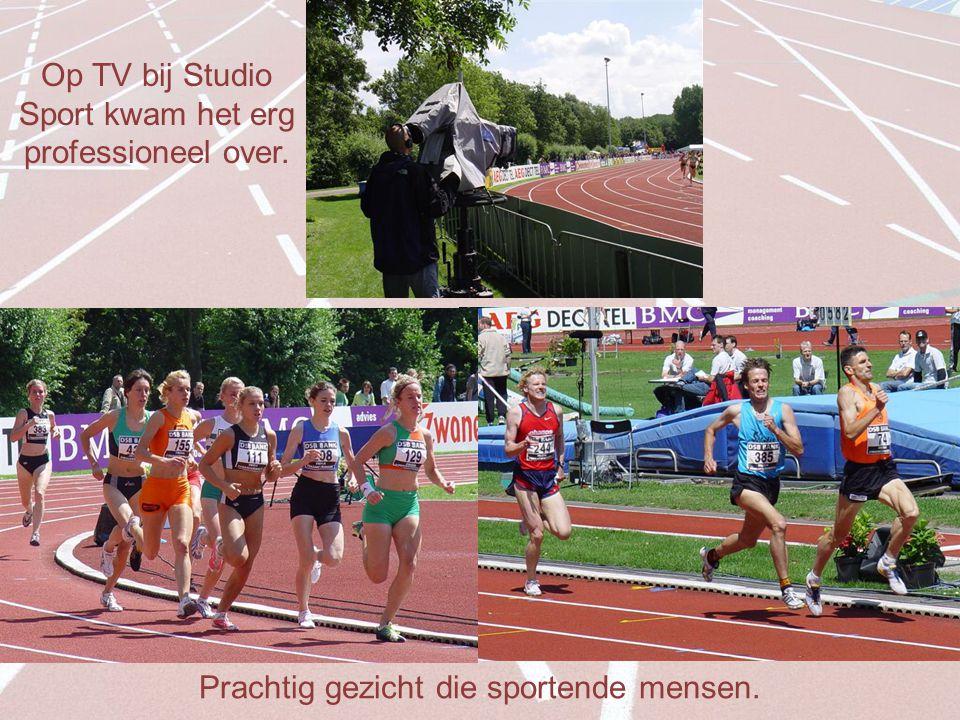 Prachtig gezicht die sportende mensen. Op TV bij Studio Sport kwam het erg professioneel over.