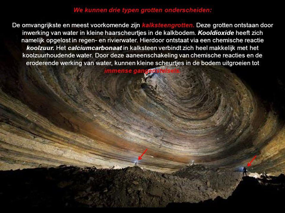 Ook de geologie van streken waar grotten voorkomen is onderwerp van studie.