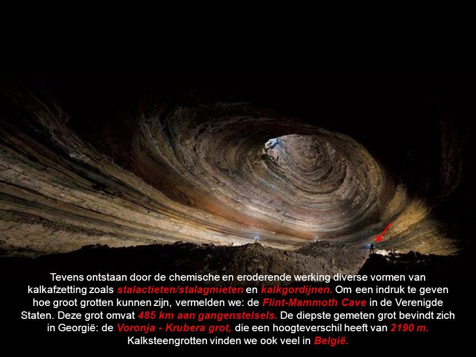 We kunnen drie typen grotten onderscheiden: De omvangrijkste en meest voorkomende zijn kalksteengrotten.