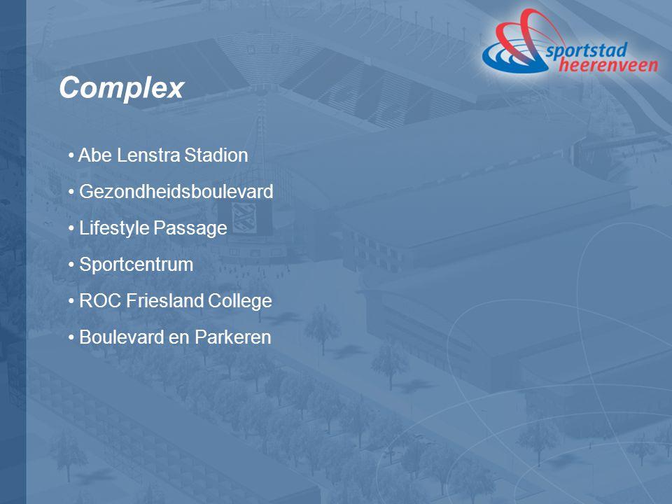 Complex Abe Lenstra Stadion Gezondheidsboulevard Lifestyle Passage Sportcentrum ROC Friesland College Boulevard en Parkeren