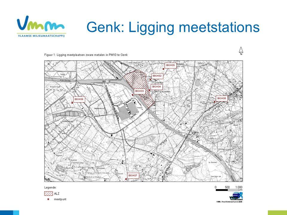 11 Genk: Ligging meetstations
