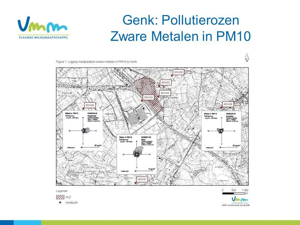 16 Genk: Pollutierozen Zware Metalen in PM10
