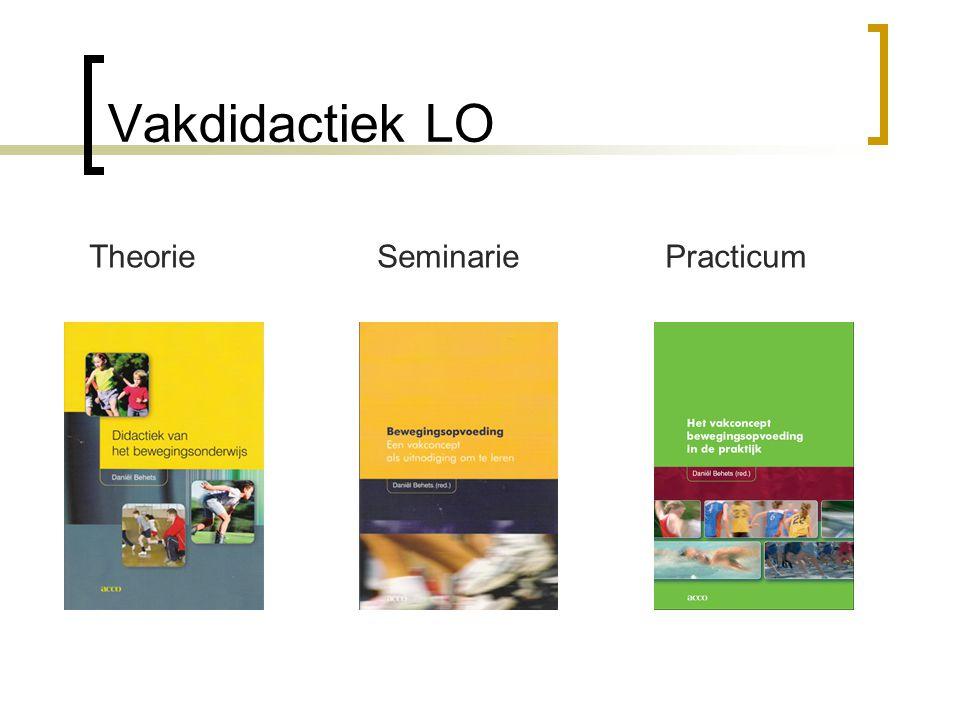 Vakdidactiek LO Theorie Seminarie Practicum