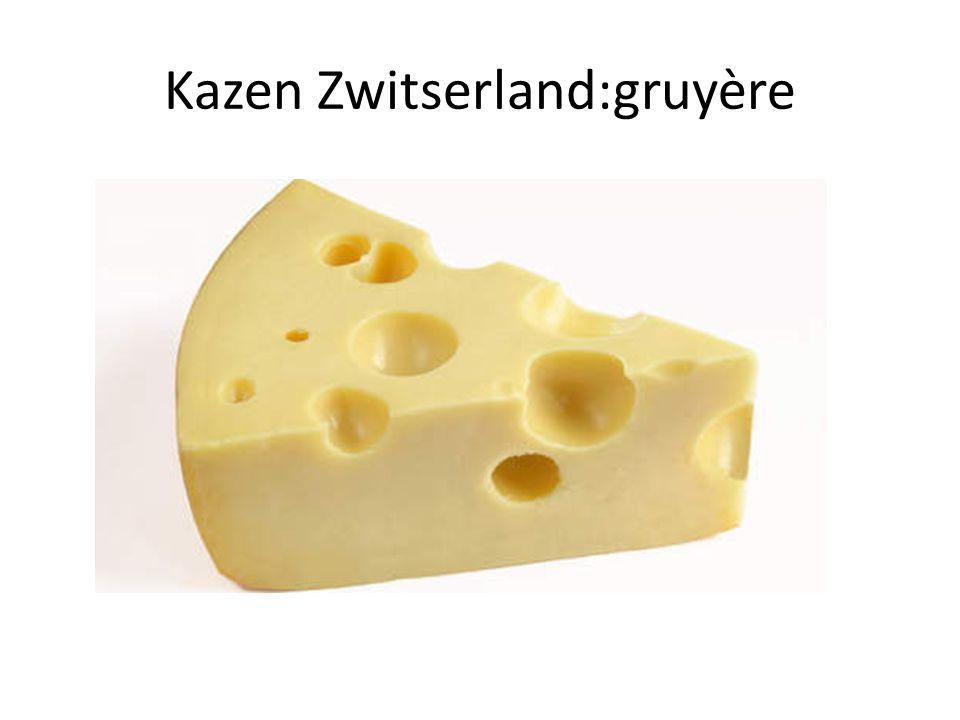 Kazen Zwitserland:gruyère