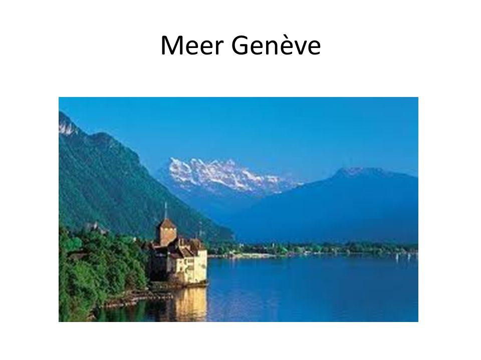 Info Het meer van Genève ligt 564 m hoog Het meer van Genève is 29,8 km² Het meer van Genève is 260m diep De twee gletsjers zijn 3000 en 5000m hoog