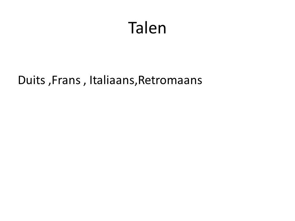 Talen Duits,Frans, Italiaans,Retromaans