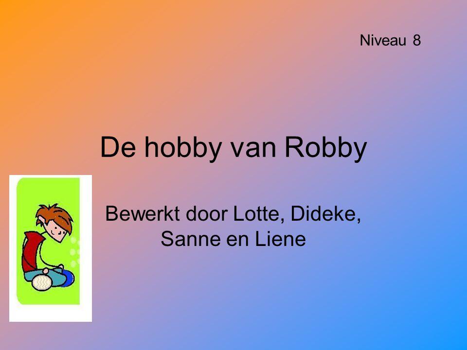 De hobby van Robby Bewerkt door Lotte, Dideke, Sanne en Liene Niveau 8