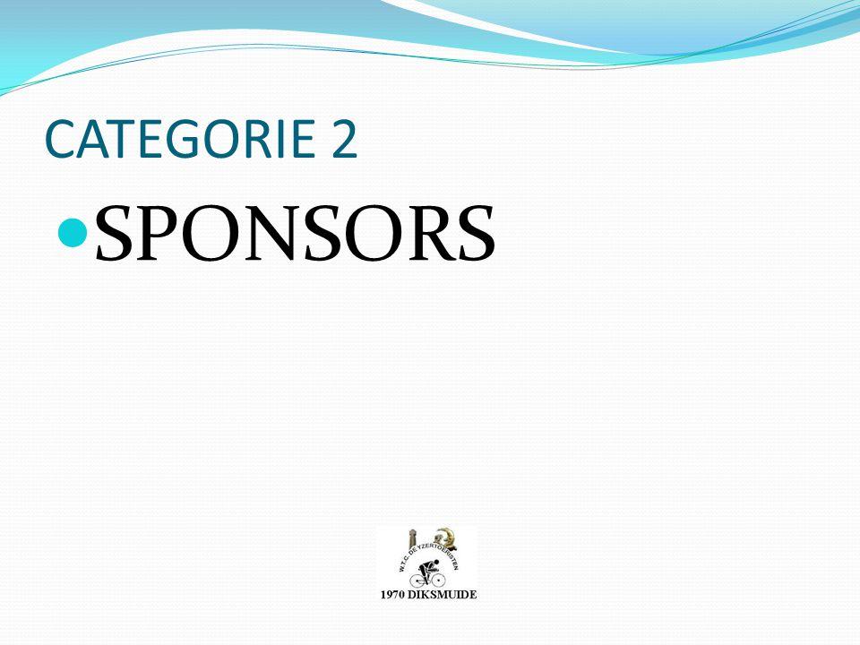 CATEGORIE 2 SPONSORS