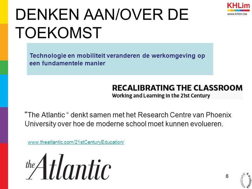 """DENKEN AAN/OVER DE TOEKOMST """" The Atlantic """" denkt samen met het Research Centre van Phoenix University over hoe de moderne school moet kunnen evoluer"""