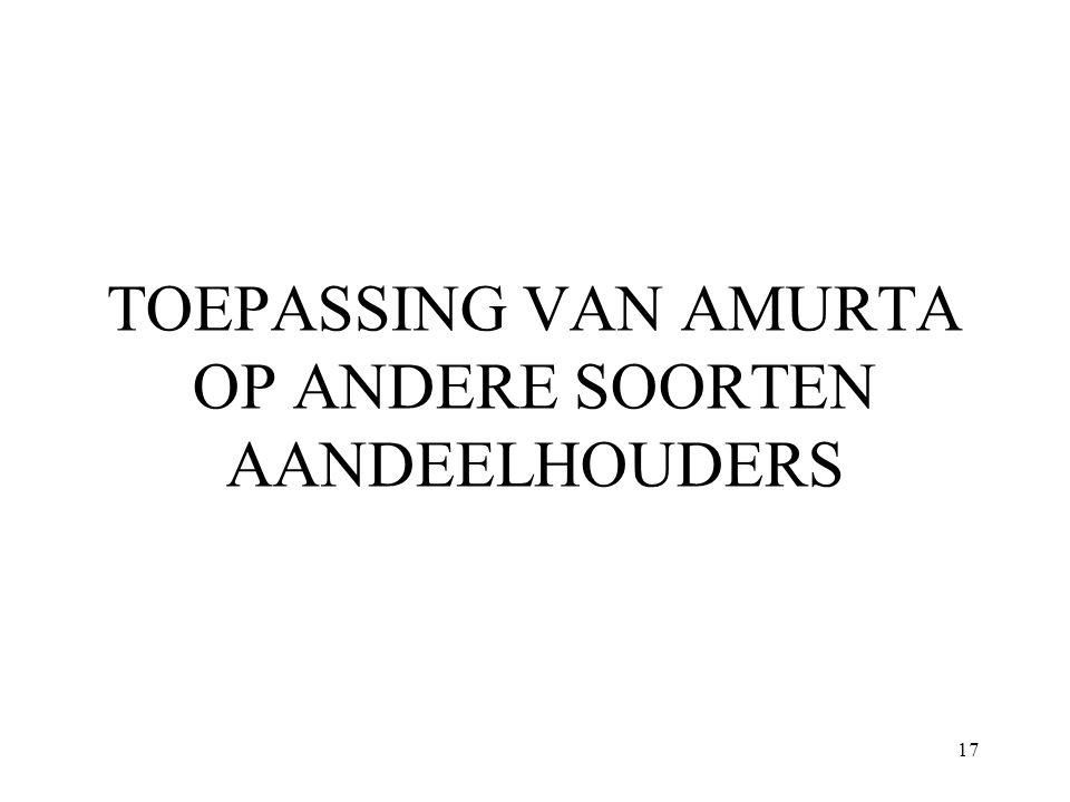17 TOEPASSING VAN AMURTA OP ANDERE SOORTEN AANDEELHOUDERS