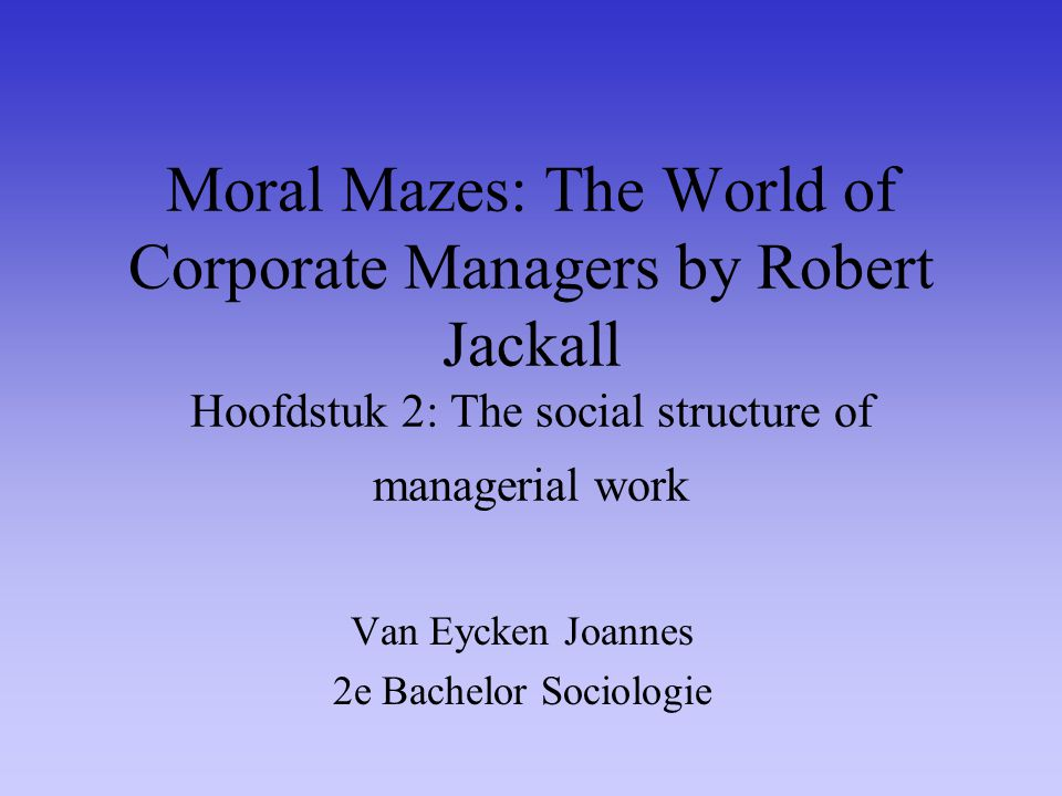Gebaseerd op veldwerk in grote organisaties en interviews met > 100 managers 'Most Outstanding Business and Management Book'(1988) by the Association of American Publishers