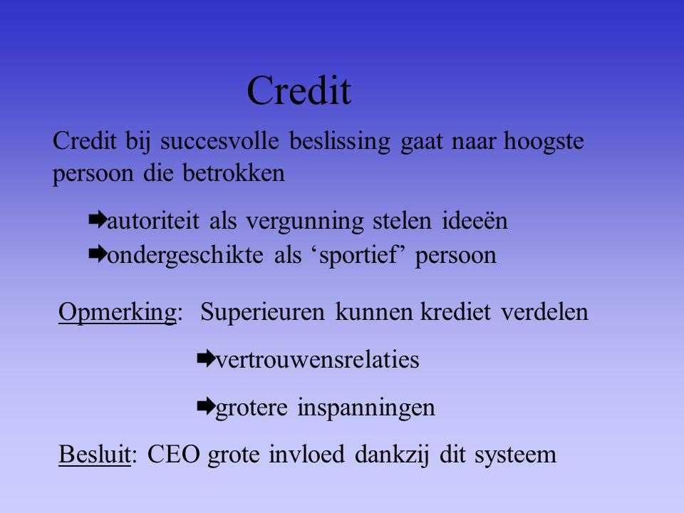 Credit Credit bij succesvolle beslissing gaat naar hoogste persoon die betrokken  autoriteit als vergunning stelen ideeën Opmerking: Superieuren kunn