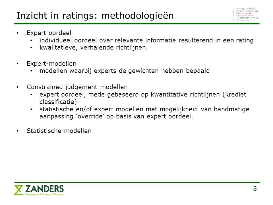8 Expert oordeel individueel oordeel over relevante informatie resulterend in een rating kwalitatieve, verhalende richtlijnen. Expert-modellen modelle