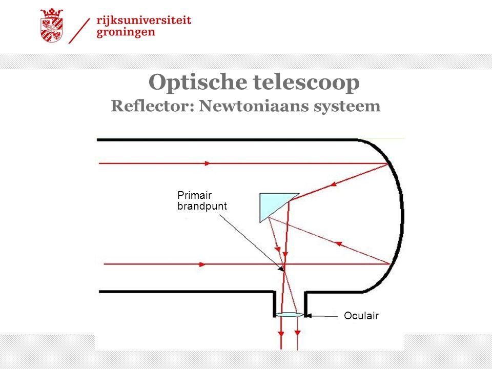 Optische telescoop Reflector: Cassegrain systeem Primair brandpunt Oculair