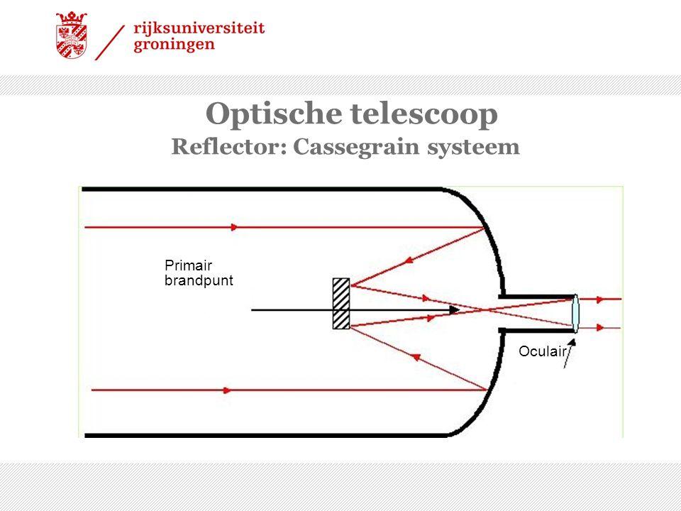 Hoe groter hoe beter… Grotere telescopen kunnen scherper zien diameter golflengte Resolutie  D