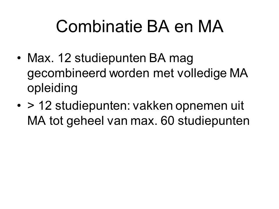 Combinatie BA en MA Max.