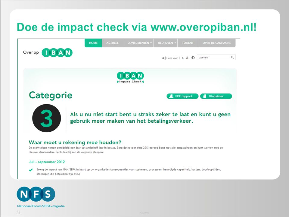 Doe de impact check via www.overopiban.nl! 28Kluwer