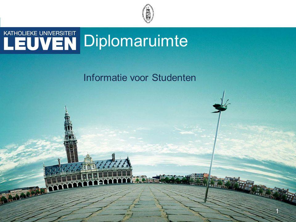 1 Diplomaruimte Informatie voor Studenten