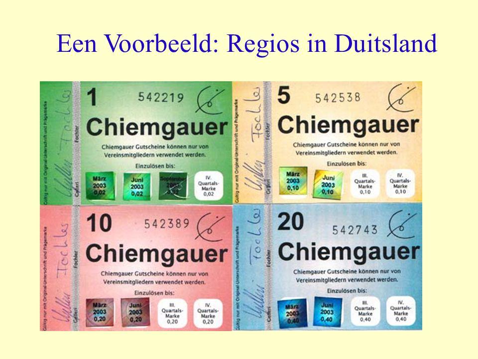 Een Voorbeeld: Regios in Duitsland