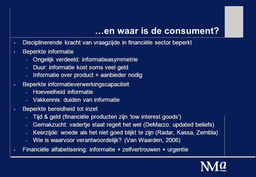 …en waar is de consument.