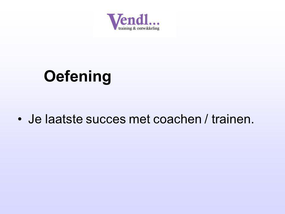 Oefening Je laatste succes met coachen / trainen.