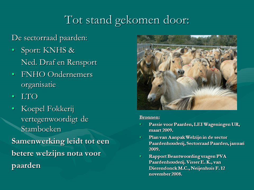 Tot stand gekomen door: De sectorraad paarden: Sport: KNHS &Sport: KNHS & Ned.