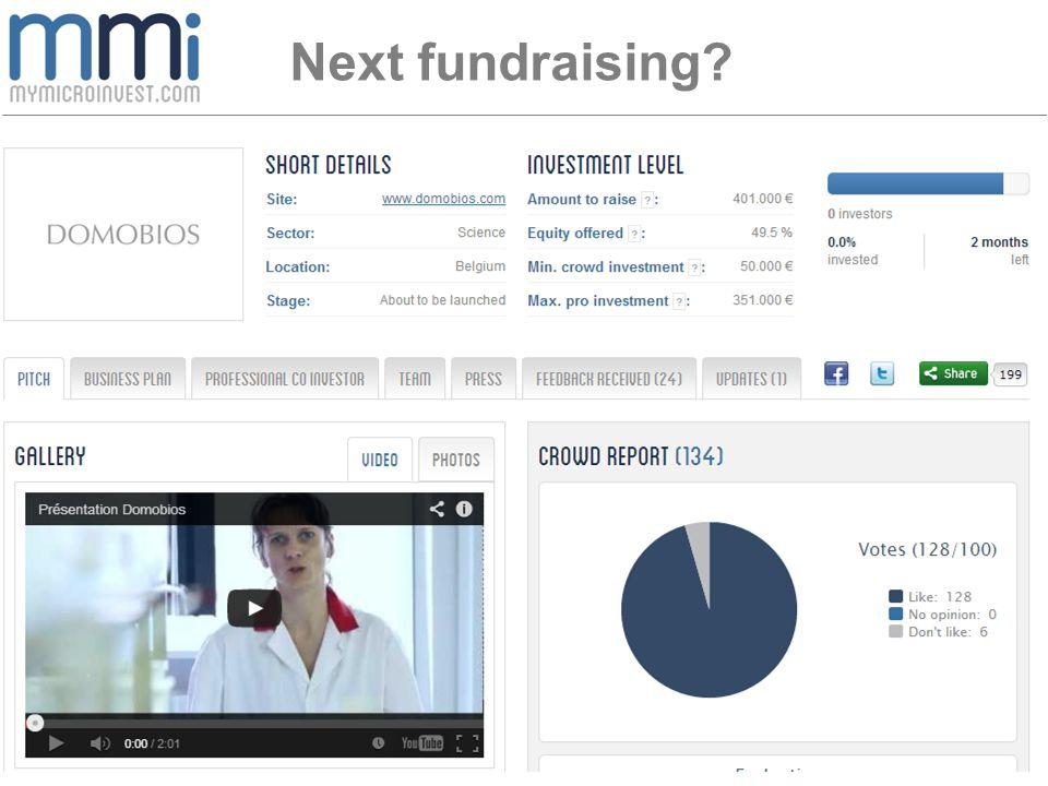 Next fundraising?