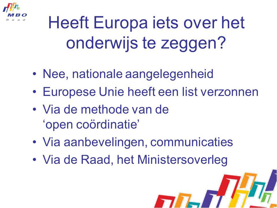 Heeft Europa iets over het onderwijs te zeggen? Nee, nationale aangelegenheid Europese Unie heeft een list verzonnen Via de methode van de 'open coörd