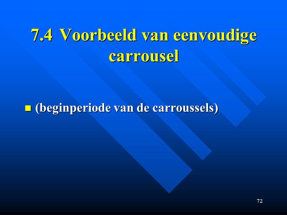 72 7.4Voorbeeld van eenvoudige carrousel (beginperiode van de carroussels) (beginperiode van de carroussels)