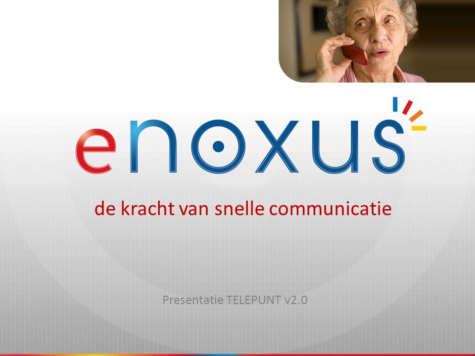 de kracht van snelle communicatie eNOXUS - screenshots Invoeren login en paswoord