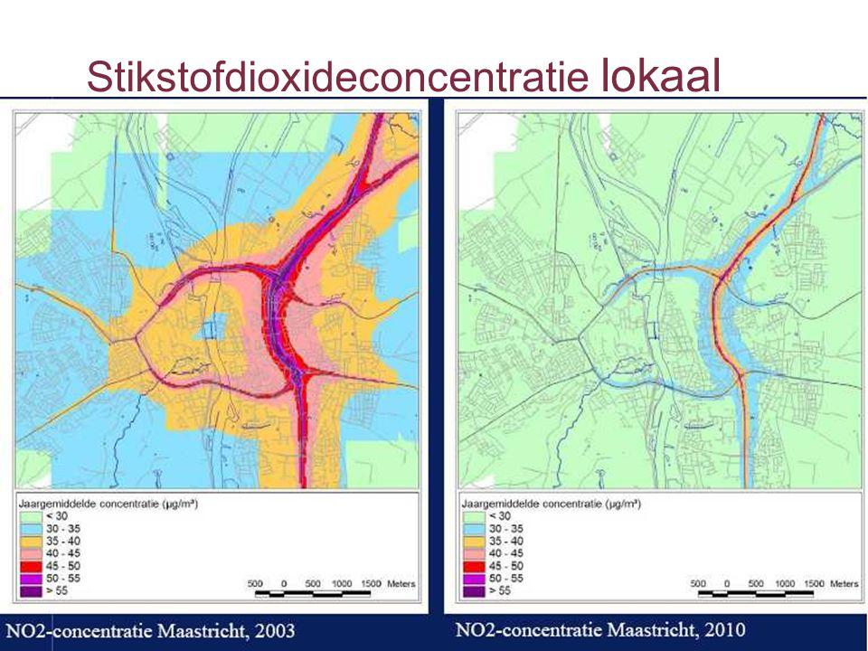 Luchtkwaliteit: knelpunten langs wegennet 20032010 prognose Aantal woningen in overschrijdingsgebied grenswaarde stikstofdioxide (NO 2 )24.019700 Aantal woningen in overschrijdingsgebied grenswaarde fijn stof (PM10)1.395< 5
