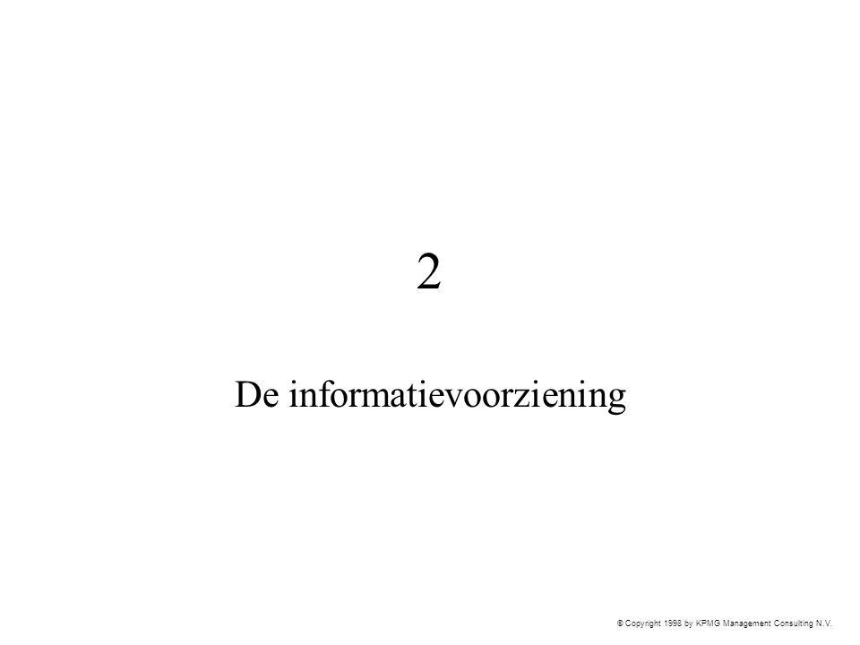 © Copyright 1998 by KPMG Management Consulting N.V. 2 De informatievoorziening