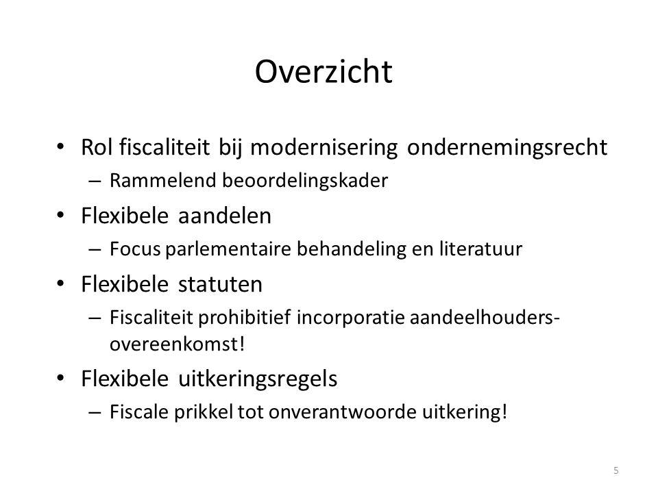 Modernisering ondernemingsrecht 6 Voormalig wetsvoorstel personen- vennootschap Wetsvoorstel flexibele bv