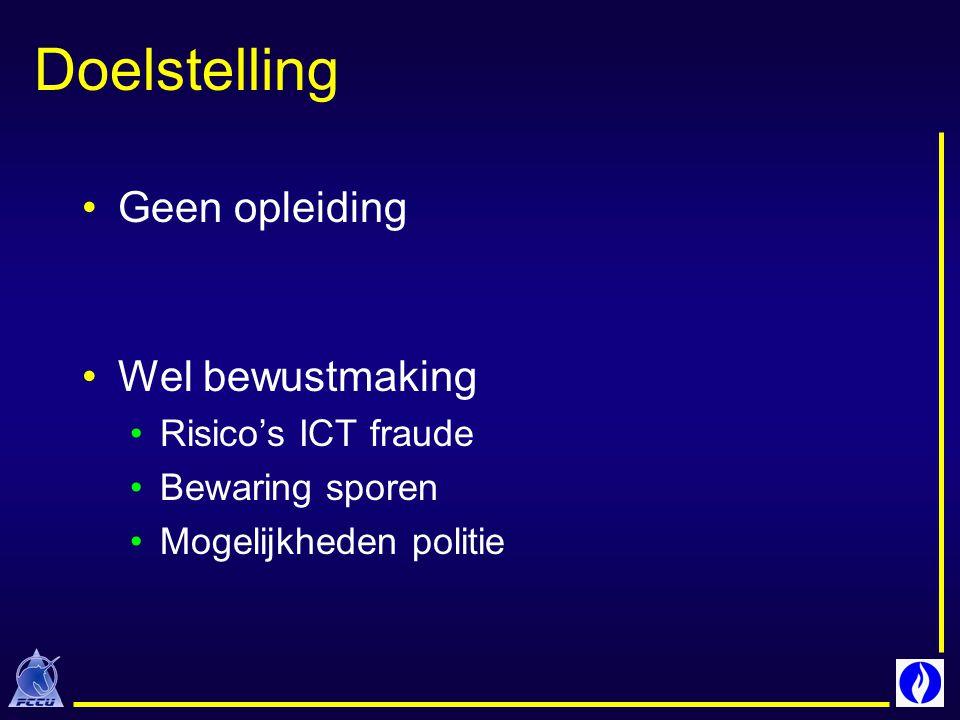 Onbekendheid van slachtoffers met ICT fraude Schrik bij slachtoffers voor hun « imago » Laattijdigheid van de klachten Herstel van ICT systeem primordiaal « vertrappelde sporen » Gefilterde sporen & problemen tijdsynchronisatie Onbekendheid van politie / magistratuur met ICT Kosten van het onderzoek Internationaal aspect Vluchtigheid van telecom / Internetsporen Grootste problemen bij ICT opsporingen