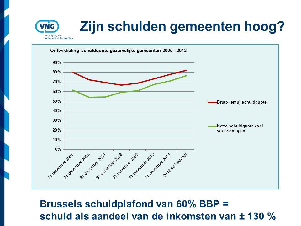 Vereniging van Nederlandse Gemeenten Zijn schulden gemeenten hoog.