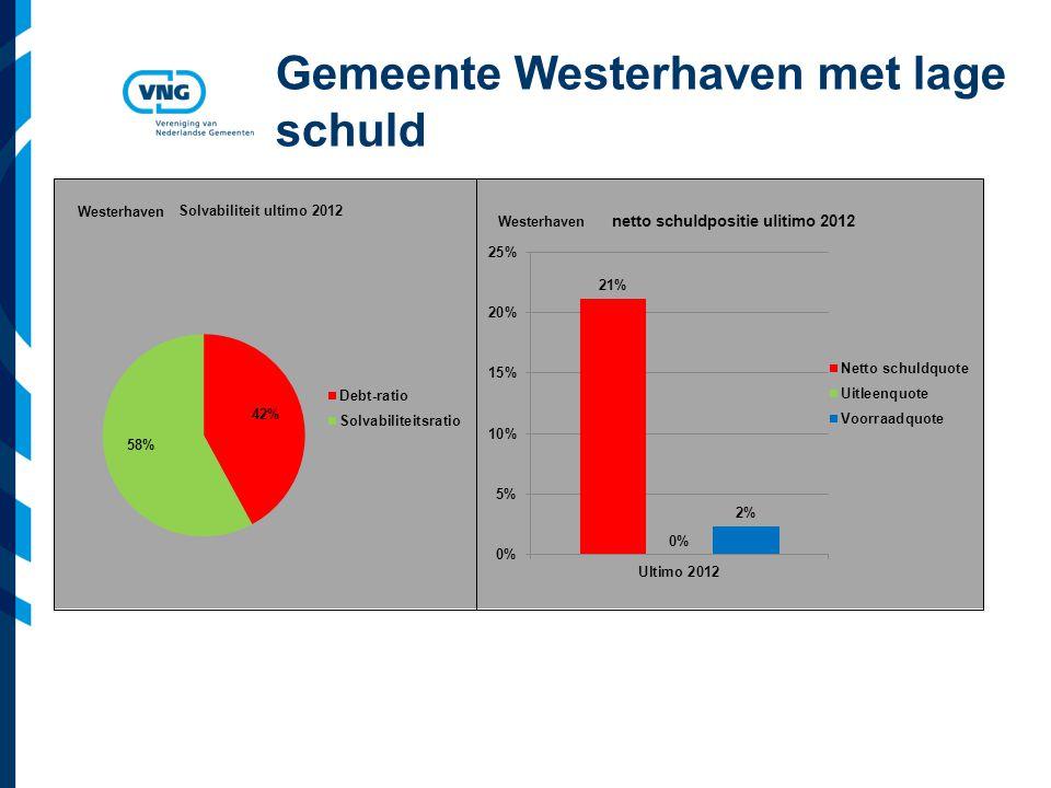 Vereniging van Nederlandse Gemeenten Gemeente Westerhaven met lage schuld