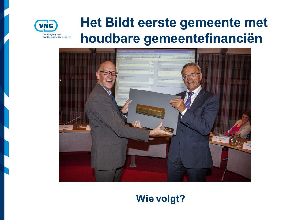 Vereniging van Nederlandse Gemeenten Het Bildt eerste gemeente met houdbare gemeentefinanciën Wie volgt
