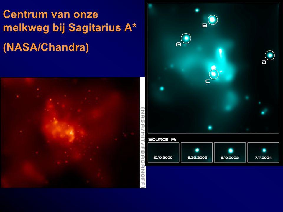 Centrum van onze melkweg bij Sagitarius A* (NASA/Chandra)