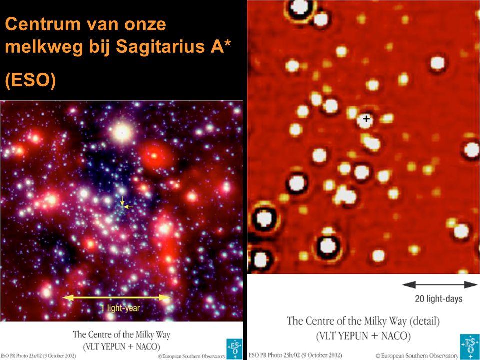 Centrum van onze melkweg bij Sagitarius A* (ESO)