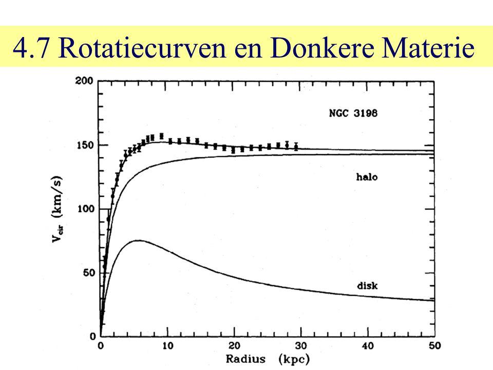 4.7 Rotatiecurven en Donkere Materie