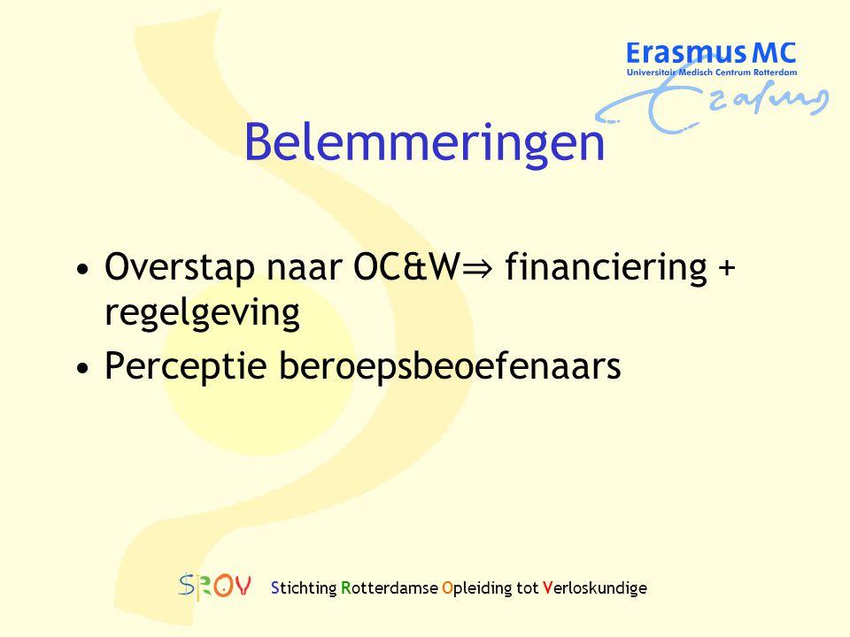 Belemmeringen Overstap naar OC&W ⇒ financiering + regelgeving Perceptie beroepsbeoefenaars Stichting Rotterdamse Opleiding tot Verloskundige